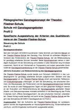Ganztagskonzept - Theodor-Fliedner-Schule
