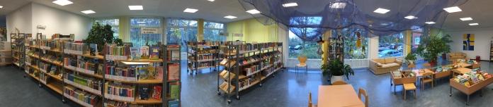 Blick in die Stadtteilbibliothek.