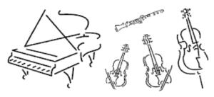 Einladung zum ersten Kammerkonzert der Theodor-Fliedner-Schule