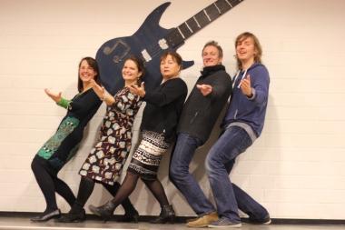 Unsere Musikfachschaft (v. l. nach r.): Frau Baron, Frau Seibert, Frau Weidner, Herr Dunn, Herr Jung (LiV)