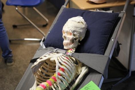 Die Schulsanitäter hatten einen Patienten.