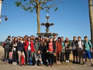 Les élèves allemands du lycée Theodor Fliedner.