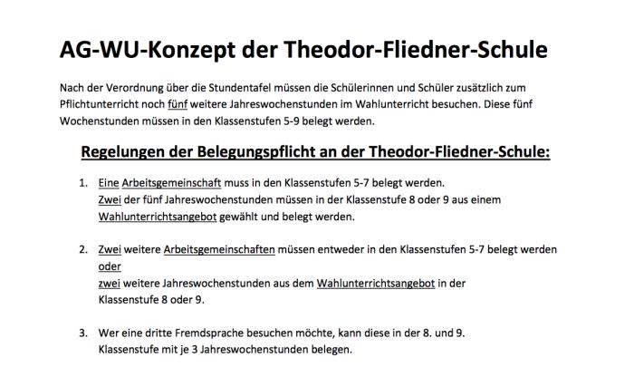 AG-WU-Konzept der Theodor-Fliedner-Schule
