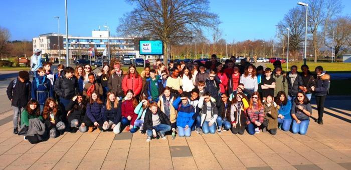 Besuch der Wiesbaden Middle School
